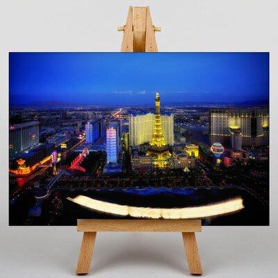 Big Box Art Las Vegas Strip Skyline Nevada USA No.1 Photographic Print on Canvas