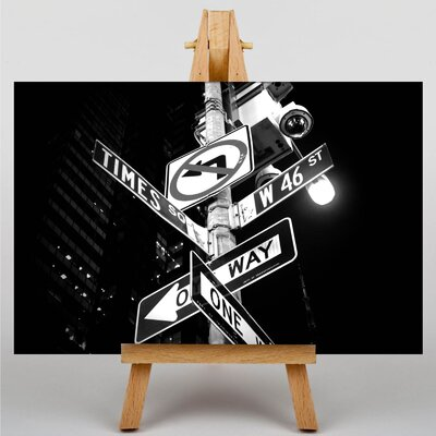 Big Box Art Times Square New York City Signs Photographic Print on Canvas