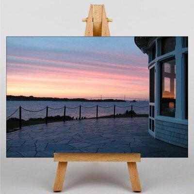 Big Box Art Rhode Island Sunset USA Photographic Print on Canvas