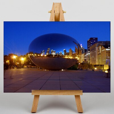 Big Box Art Chicago Bean USA Photographic Print Wrapped on Canvas