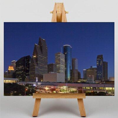 Big Box Art Texas Houston Skyline USA Photographic Print on Canvas