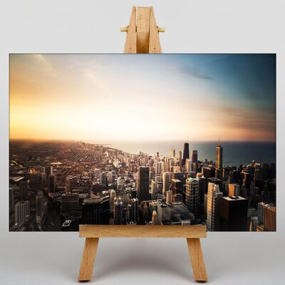Big Box Art Chicago Skyline USA Photographic Print Wrapped on Canvas