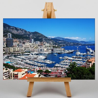 Big Box Art French Riviera Monaco Photographic Print Wrapped on Canvas