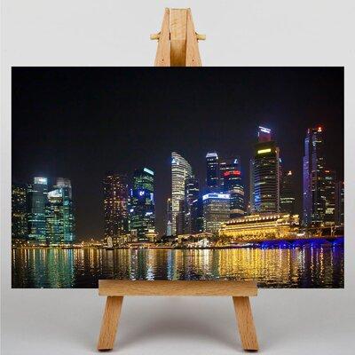 Big Box Art Singapore Skyline No.4 Photographic Print on Canvas