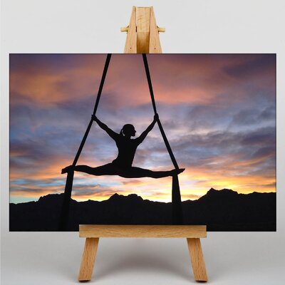 Big Box Art Aerialist Gymnastics No.1 Photographic Print Wrapped on Canvas