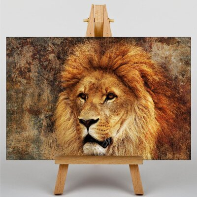 Big Box Art Lion No.6 Graphic Art Wrapped on Canvas