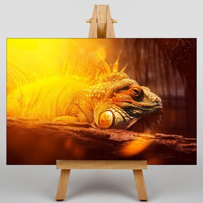 Big Box Art Iguana Lizard No.2 Graphic Art Wrapped on Canvas