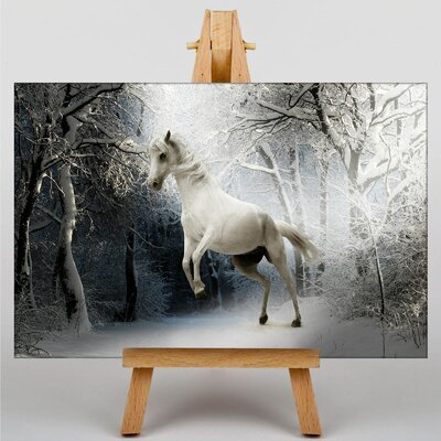 Big Box Art Horse Snowy Forest Photographic Print on Canvas