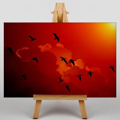 Big Box Art Migratory Flying Geese Photographic Print on Canvas