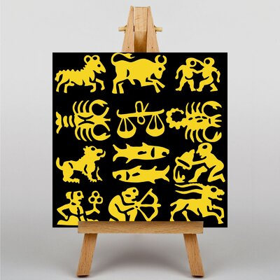 Big Box Art Astrology Zodiac Signs Graphic Art Wrapped on Canvas
