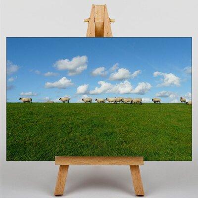 Big Box Art Sheep Flock No.2 Photographic Print Wrapped on Canvas