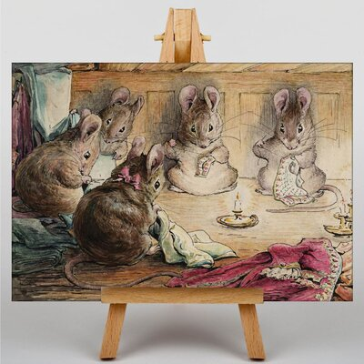 "Big Box Art ""Mice Sewing"" by Beatrix Potter Graphic Art on Canvas"