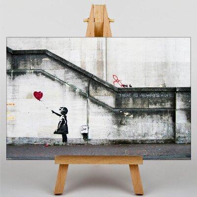 "Big Box Art ""Girl with Balloon Graffiti No.2"" by Banksy Art Print on Canvas"