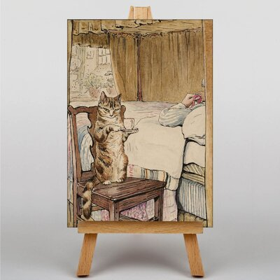 "Big Box Art ""Simpkin at the Bedside"" by Beatrix Potter Graphic Art on Canvas"