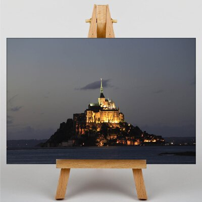 Big Box Art Mont St. Michel France No.1 Photographic Print Wrapped on Canvas
