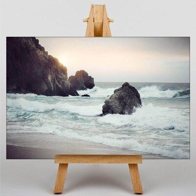 Big Box Art Waves Photographic Print on Canvas