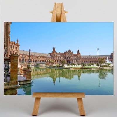 Big Box Art Regional Parliament Andalusia Spain Photographic Print Wrapped on Canvas