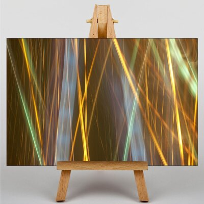 Big Box Art Kinetic Abstract Electricity No.4 Graphic Art Wrapped on Canvas