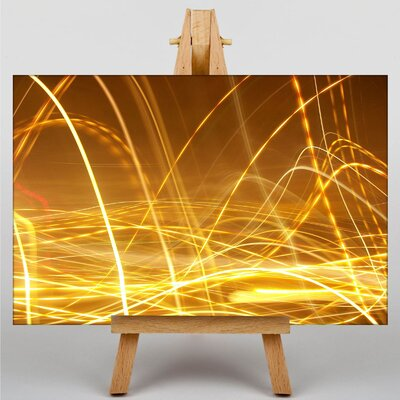 Big Box Art Kinetic Abstract Electricity No.3 Graphic Art Wrapped on Canvas