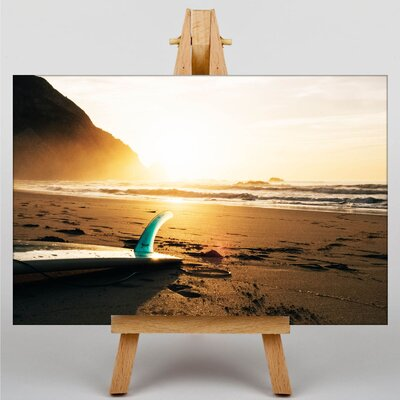 Big Box Art Surfing Surfboard Photographic Print on Canvas
