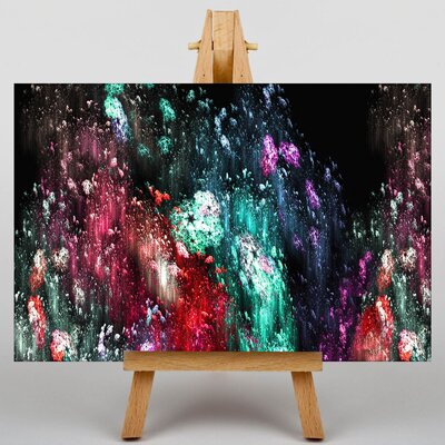 Big Box Art Colourful Paint Splash Abstract No.6 Graphic Art on Canvas