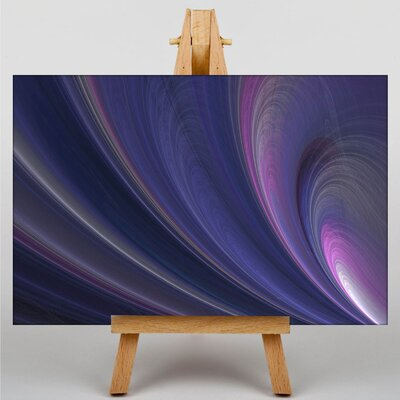 Big Box Art Purple Abstract No.3 Graphic Art on Canvas