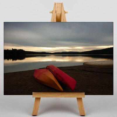 Big Box Art Canoeing Photographic Print Wrapped on Canvas