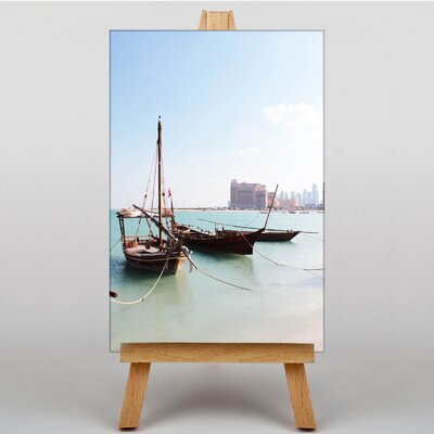 Big Box Art Boats Qatar Photographic Print Wrapped on Canvas