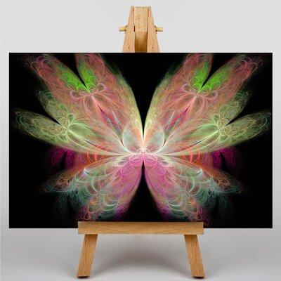 Big Box Art Mixed Colour Fractal Abstract No.43 Graphic Art on Canvas