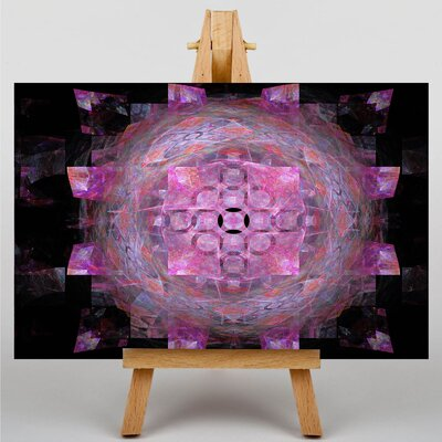 Big Box Art Pink Purple Fractal Abstract No.25 Graphic Art on Canvas