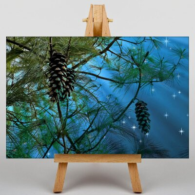Big Box Art Conifer Tree Pine Cones Graphic Art on Canvas