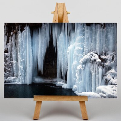 Big Box Art Frozen Waterfall Photographic Print Wrapped on Canvas