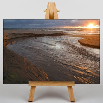 Big Box Art Lake Michigan Sunset Photographic Print on Canvas