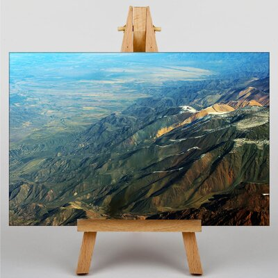 Big Box Art Andes Mountains Argentina Chile Photographic Print on Canvas