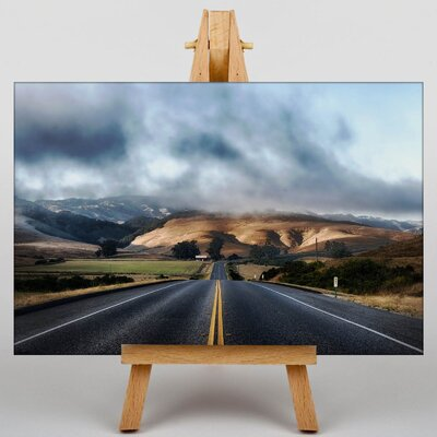 Big Box Art California Mountain Road Photographic Print on Canvas
