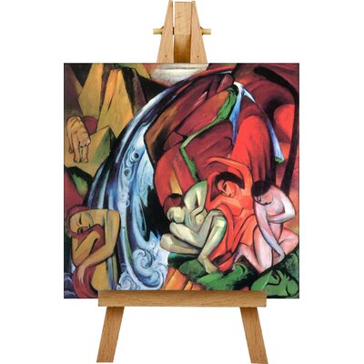 Big Box Art The Waterfall by Franz Marc Art Print on Canvas