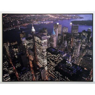 ERGO-PAUL Night Aerial View of the Financial District, NYC Painting Print