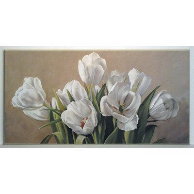 ERGO-PAUL White Tulips Painting Print