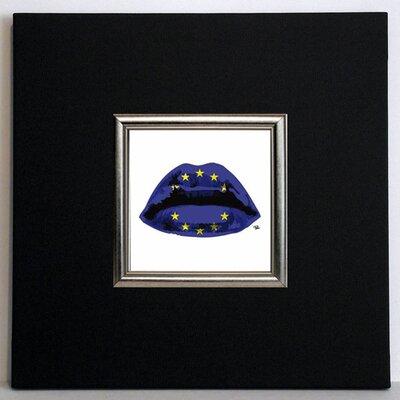 ERGO-PAUL Euro Kiss Framed Painting Print