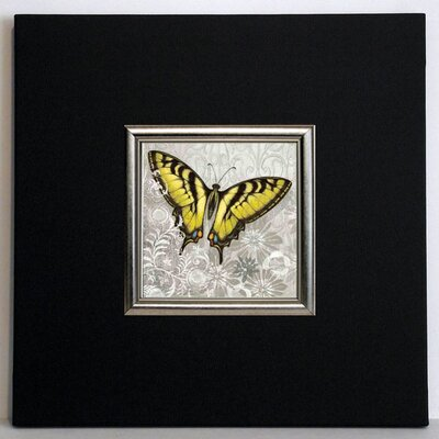 ERGO-PAUL Yellow Butterfly III Framed Painting Print