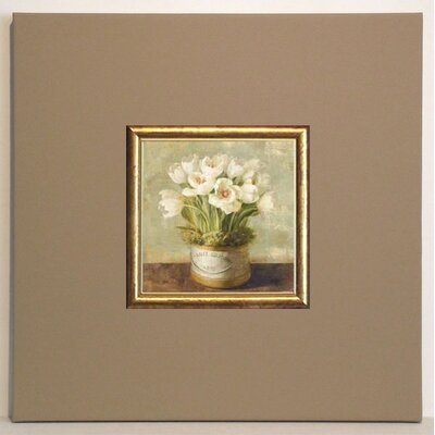 ERGO-PAUL Hatbox Tulips Framed Painting Print