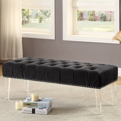Sowers Upholstered Bench Upholstery Color: Black