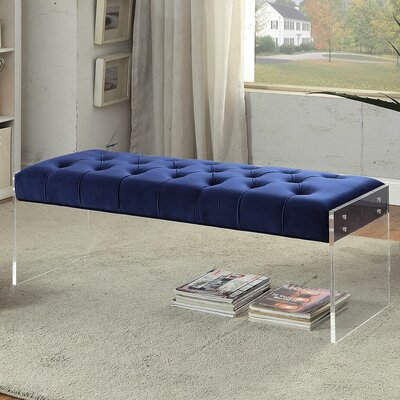 Orchard Upholstered Bench Upholstery Color: Navy
