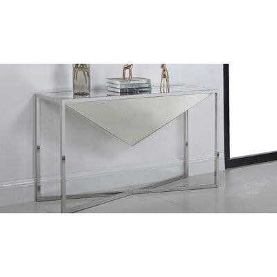 Trong Console Table Table Base Color: Silver