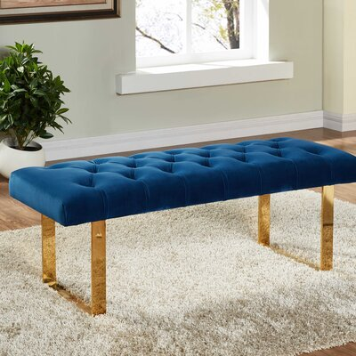 Briarwood Upholstered Bench Upholstery Color: Navy