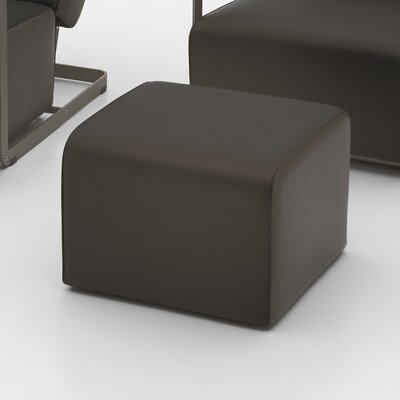 Glorenza Leather Ottoman Color: Light Brown