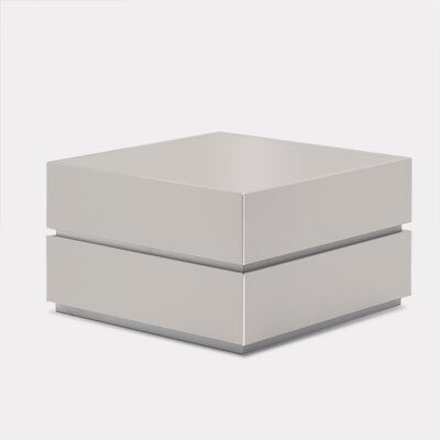 Potenza 2 Drawer Nightstand Color: Glossy Beige