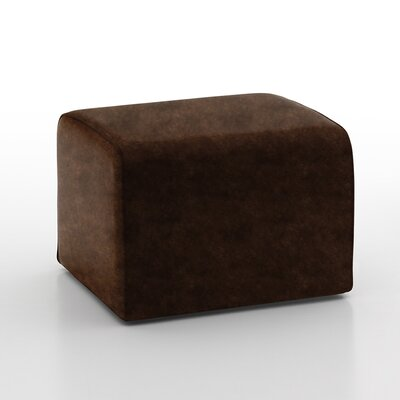 Glorenza Leather Ottoman Color: Bronze