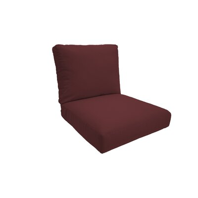 Indoor/Outdoor Lounge Chair Cushion Fabric: Lipstick, Size: Medium