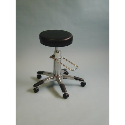 Height Adjusts Hydraulic surgical stool Color: Black
